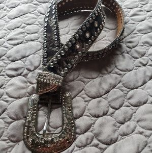 Camo bling belt
